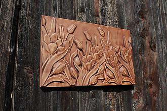 Dekorácie - Drevorezba tulipány - 10931323_