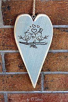 Tabuľky - Srdiečko štíhle (Vtáčiky) - 10929337_