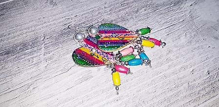 Náušnice - Perla v dúhovom objatí - náušnice - 10930023_