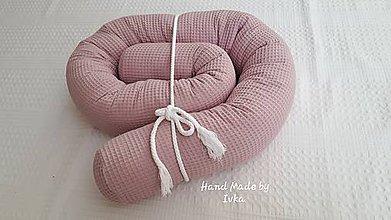 Textil - Had - valec do VEĽKEJ POSTELE  - vafle bavlna alebo  minky  - 200cm - 10931292_