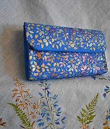 Kabelky - Ručne maľovaná listová kabelka - 10930139_