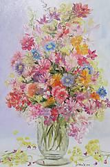 """Obrazy - ,,Zátišie s kvetmi"""" - 10930334_"""