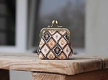 Peňaženky - Korková peňaženka s kovovým rámikom - 10932194_