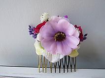 """Ozdoby do vlasov - Kvetinový hrebienok ''Leah"""" - 10930531_"""