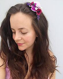 Ozdoby do vlasov - Kvetinový hrebienok ''Leah