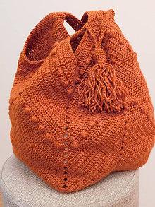 Veľké tašky - ručne háčkovaná taška - 10931125_