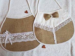Iné doplnky - Svadobné podbradníky vintage č.1 - 10930827_