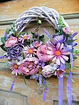 Dekorácie - Romantický levandulový veniec - 10932041_