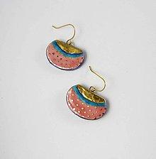 Náušnice - Tana šperky - keramika/zlato - 10931195_