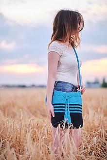 Kabelky - Tyrkysovo - modrá taška - 10932228_