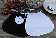 Iné doplnky - Svadobné podbradníky ...čierno biela elegancia - 10930574_