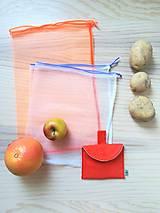 Úžitkový textil - Súprava vreciek na nákup zeleniny - juicy orange - 10931294_