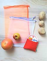 Úžitkový textil - Súprava vreciek na nákup zeleniny - juicy orange - 10931295_