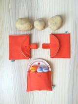 Úžitkový textil - Súprava vreciek na nákup zeleniny - juicy orange - 10931297_