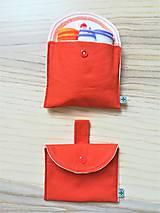 Úžitkový textil - Súprava vreciek na nákup zeleniny - juicy orange - 10931305_