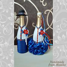 Nádoby - Svadobné gratulačné fľaše ľudové - 10929875_