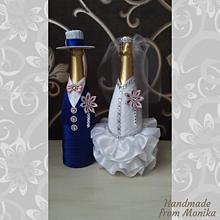 Nádoby - Svadobné gratulačné fľaše - 10929912_