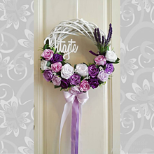 Dekorácie - Celoročný veniec na dvere - 10930201_