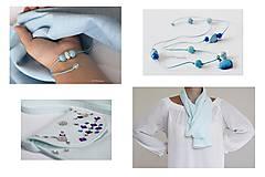 Šatky - Light blue šatka - 10929297_
