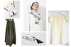 Kabelky - Mini kabelka biela so strapcom - 10929542_