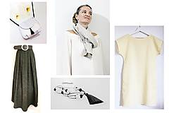 Sukne - Olivová sukňa - 10929565_