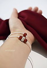 Náramky - Jemný luxus Karneol - 10931443_