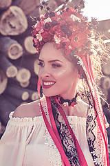 "Ozdoby do vlasov - Svadobná parta ""lesná bohyňa"" - jediný kus - 10930535_"