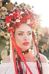 "Ozdoby do vlasov - Svadobná parta ""lesná bohyňa"" - jediný kus - 10930536_"