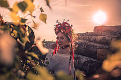 "Ozdoby do vlasov - Svadobná parta ""lesná bohyňa"" - jediný kus - 10930537_"