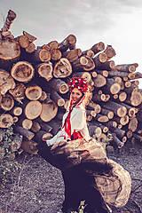 "Ozdoby do vlasov - Svadobná parta ""lesná bohyňa"" - jediný kus - 10930538_"