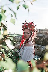 "Ozdoby do vlasov - Svadobná parta ""lesná bohyňa"" - jediný kus - 10930539_"