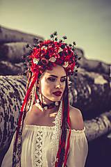 "Ozdoby do vlasov - Svadobná parta ""lesná bohyňa"" - jediný kus - 10930540_"