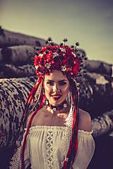 "Ozdoby do vlasov - Svadobná parta ""lesná bohyňa"" - jediný kus - 10930541_"