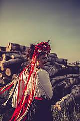 "Ozdoby do vlasov - Svadobná parta ""lesná bohyňa"" - jediný kus - 10930542_"