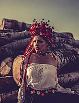 "Ozdoby do vlasov - Svadobná parta ""lesná bohyňa"" - jediný kus - 10930543_"