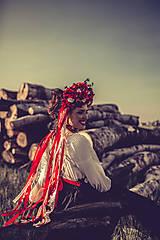 "Ozdoby do vlasov - Svadobná parta ""lesná bohyňa"" - jediný kus - 10930544_"
