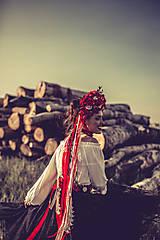 "Ozdoby do vlasov - Svadobná parta ""lesná bohyňa"" - jediný kus - 10930545_"