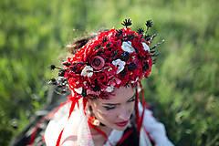 "Ozdoby do vlasov - Svadobná parta ""lesná bohyňa"" - jediný kus - 10930546_"