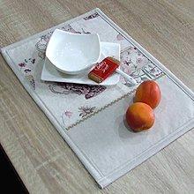 Úžitkový textil - ETELA-kvetinové šálky režnej-prestieranie 25x35 - 10929979_