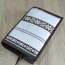 Úžitkový textil - Pre knihomoľov - folklórny hnedý L - 10931019_