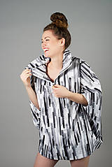 Kabáty - Bunda letná, odtiene sivej - 10931321_