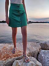 """Sukne - Ľanová sukňa smaragdovo-zelená """"Summer Adventure"""" - 10929775_"""