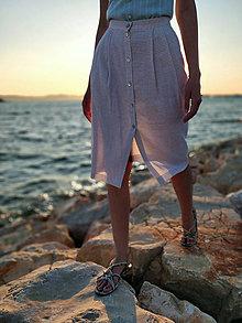 "Sukne - Ľanová sukňa beige ""Summer Adventure"" - 10929674_"