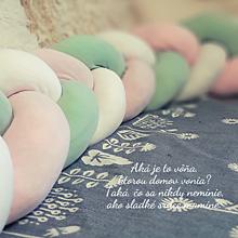 Textil - Pletený mantinel (1 meter - Ružová) - 10931976_
