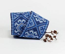 Opasky - Vyšívaný folk opasok Kráľovská modrá - 10929727_