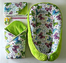 """Textil - Veľký set do pôrodnice """"Motýľ"""" - 10935224_"""