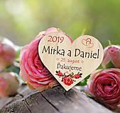 Darčeky pre svadobčanov - Svadobná magnetka - 10933372_