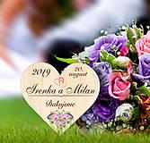 Darčeky pre svadobčanov - Svadobná magnetka - 10933398_