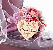 Darčeky pre svadobčanov - Svadobná magnetka - 10933404_