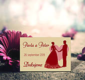 Darčeky pre svadobčanov - Svadobná magnetka - 10933449_